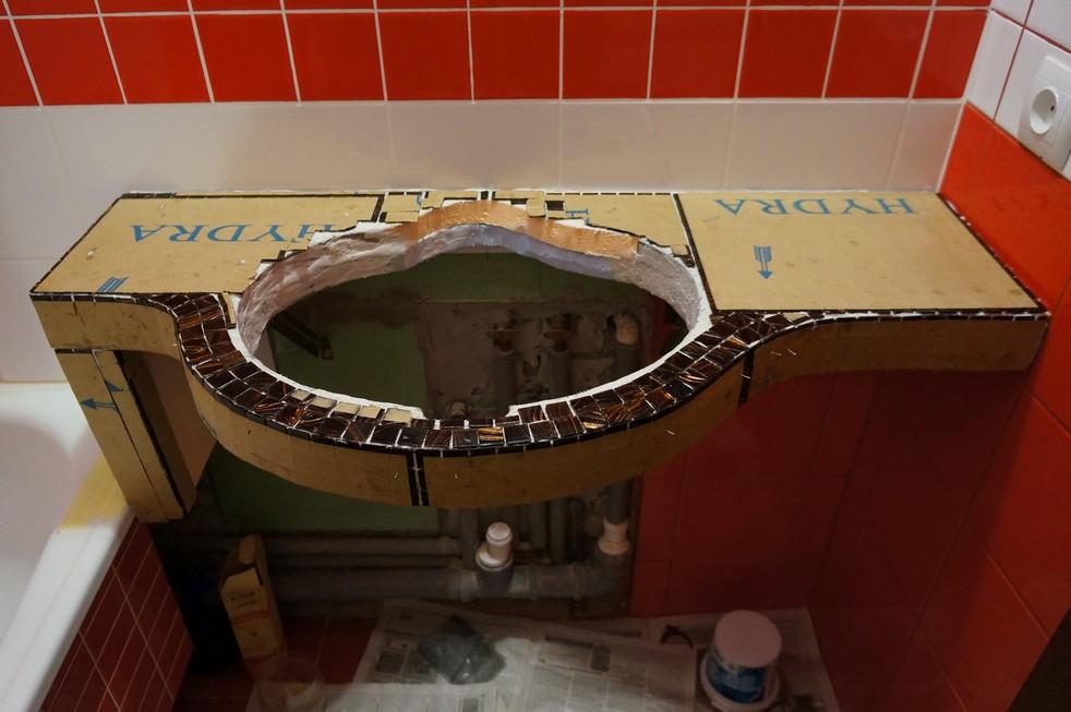 Раковины из мозаики своими руками 37