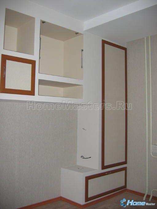 Полки, шкаф и другая мебель из гипсокартона - фото гипсомани.