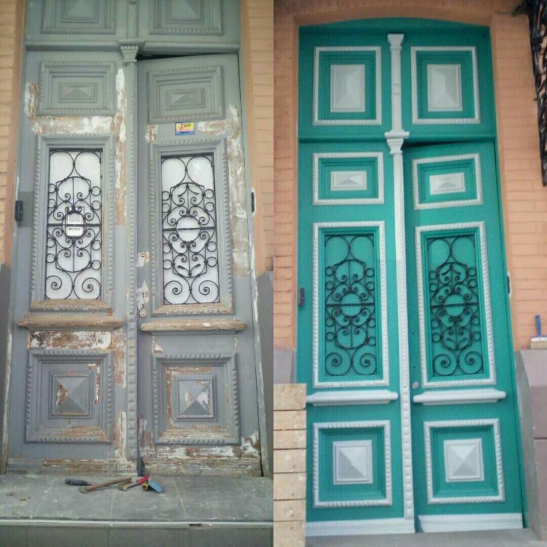 История как двери красили