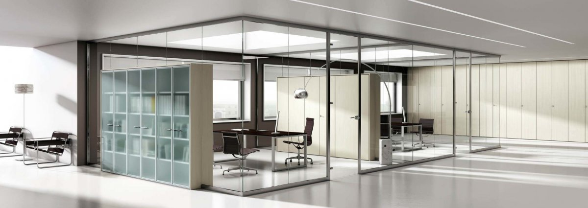 Перепланировка офиса. Применение специальных стеклянных конструкций. Примеры расчетов