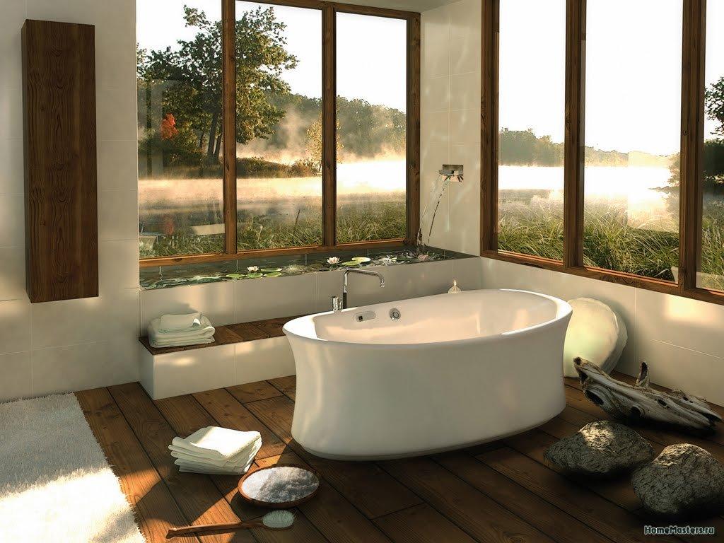 Ванная с видом