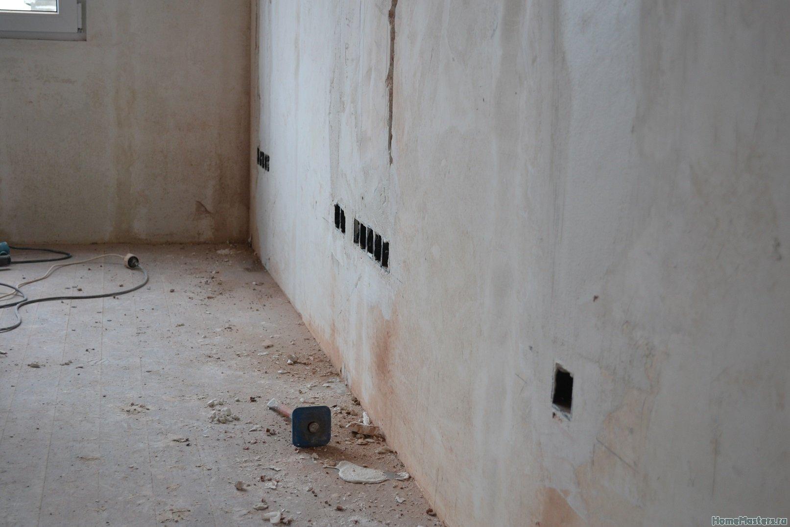 Ремонт спальни 2. Пол и стены. 031