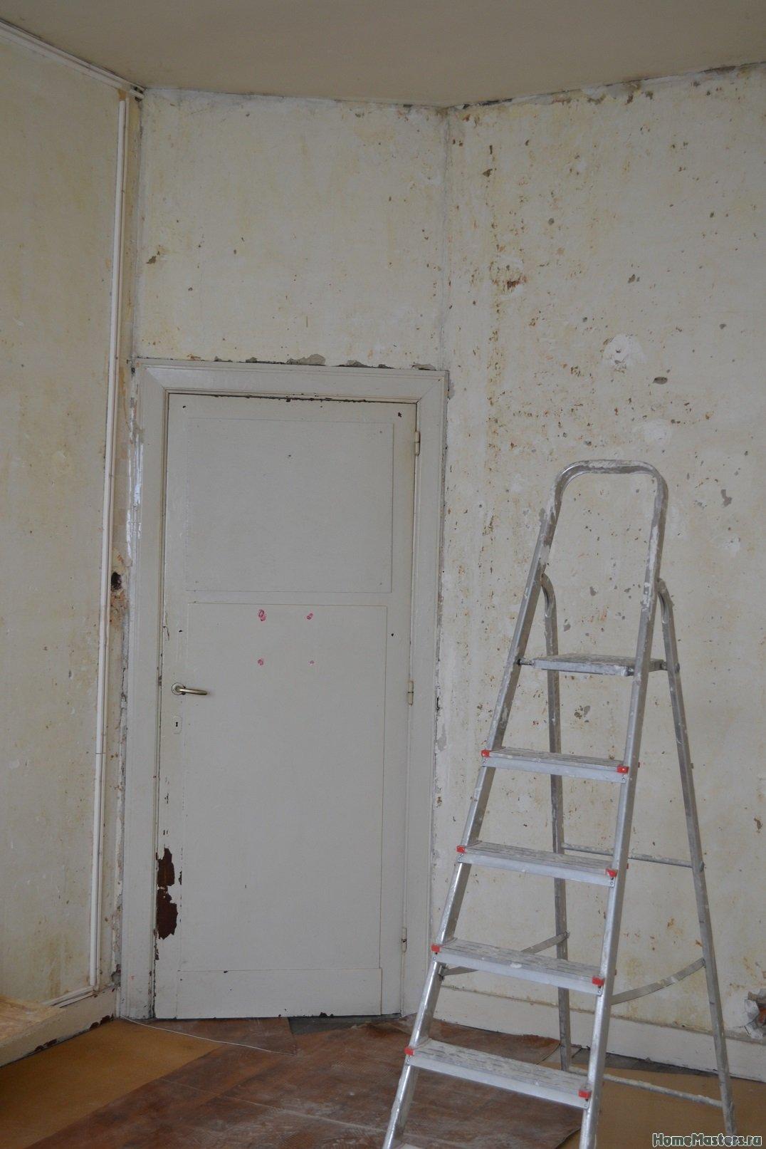 Ремонт спальни 2. Пол и стены. 001c