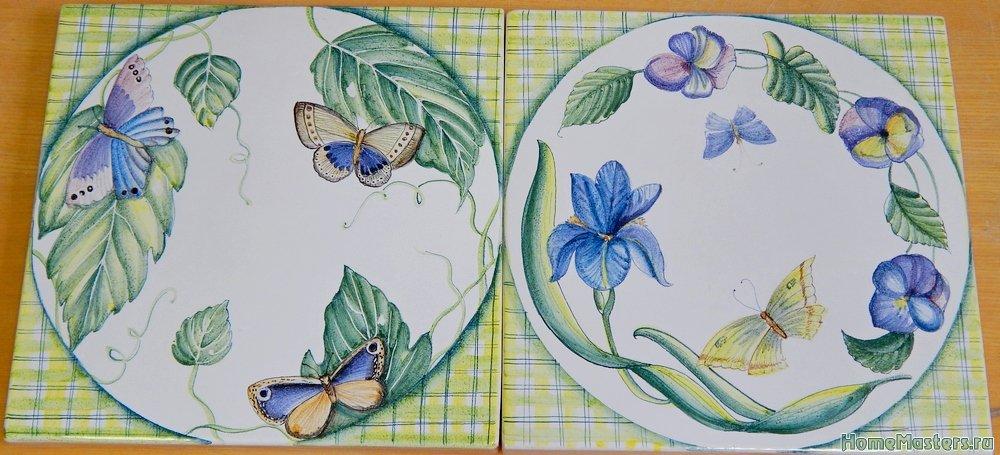 Изразцы с бабочками
