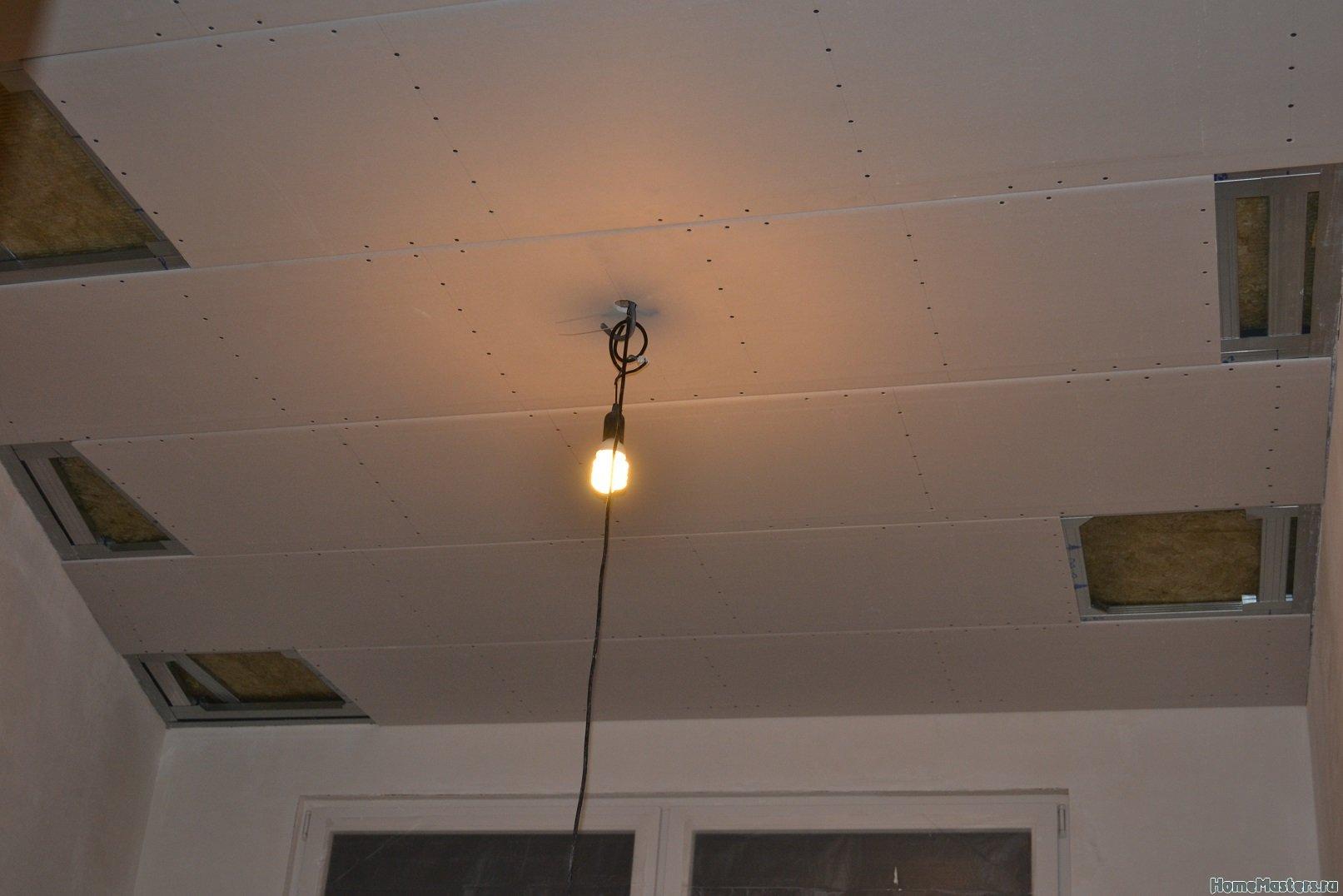 Ремонт в спальне 2. Потолок 029