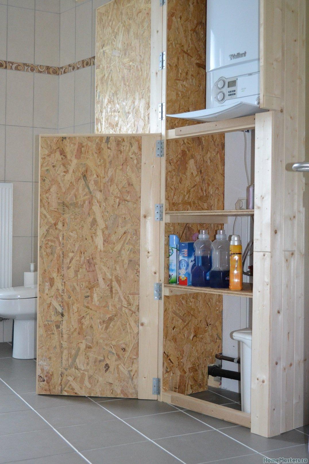 Шкаф в ванной комнате. 010