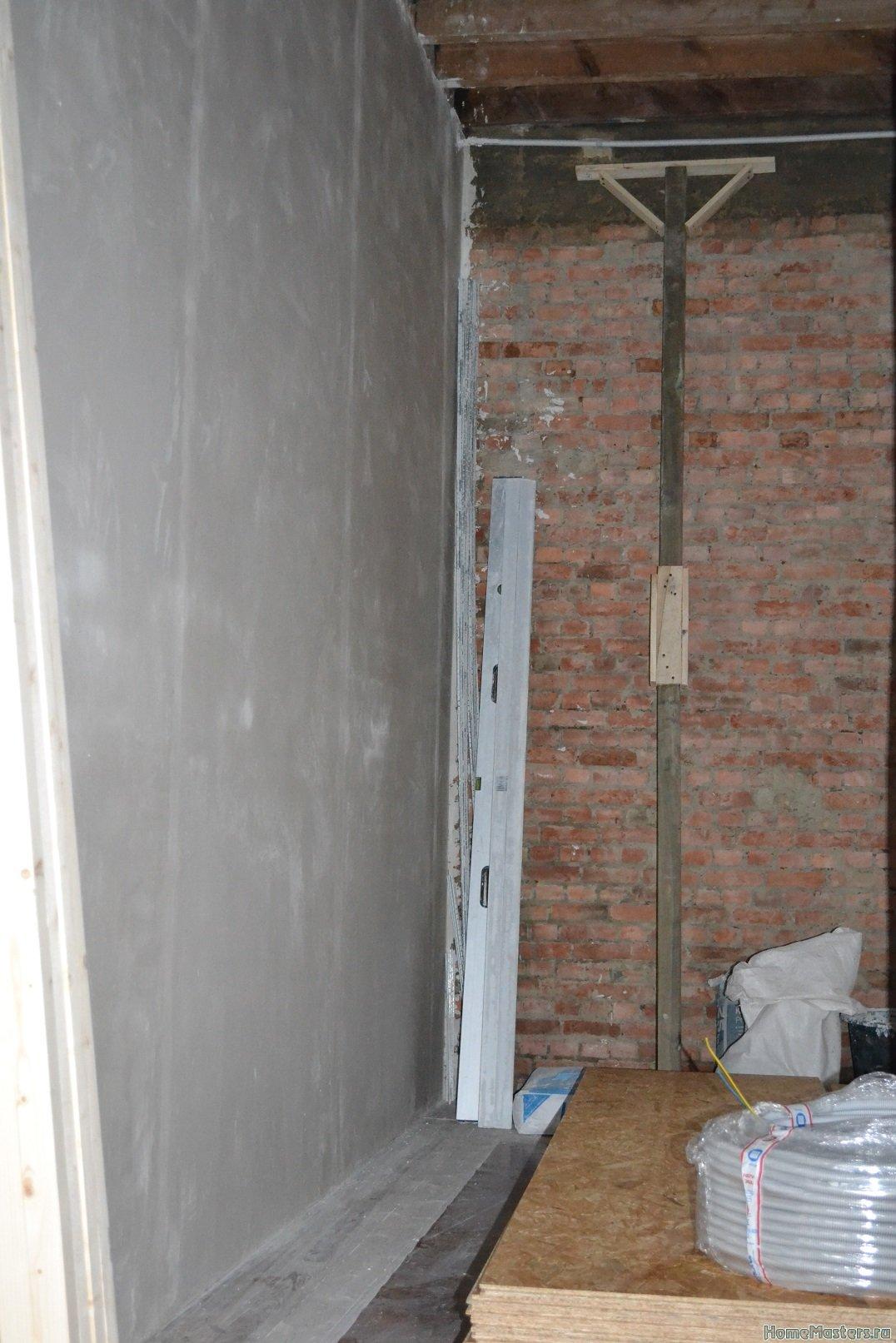 Ремонт спальни  1. Стены, пол, электрика. 024