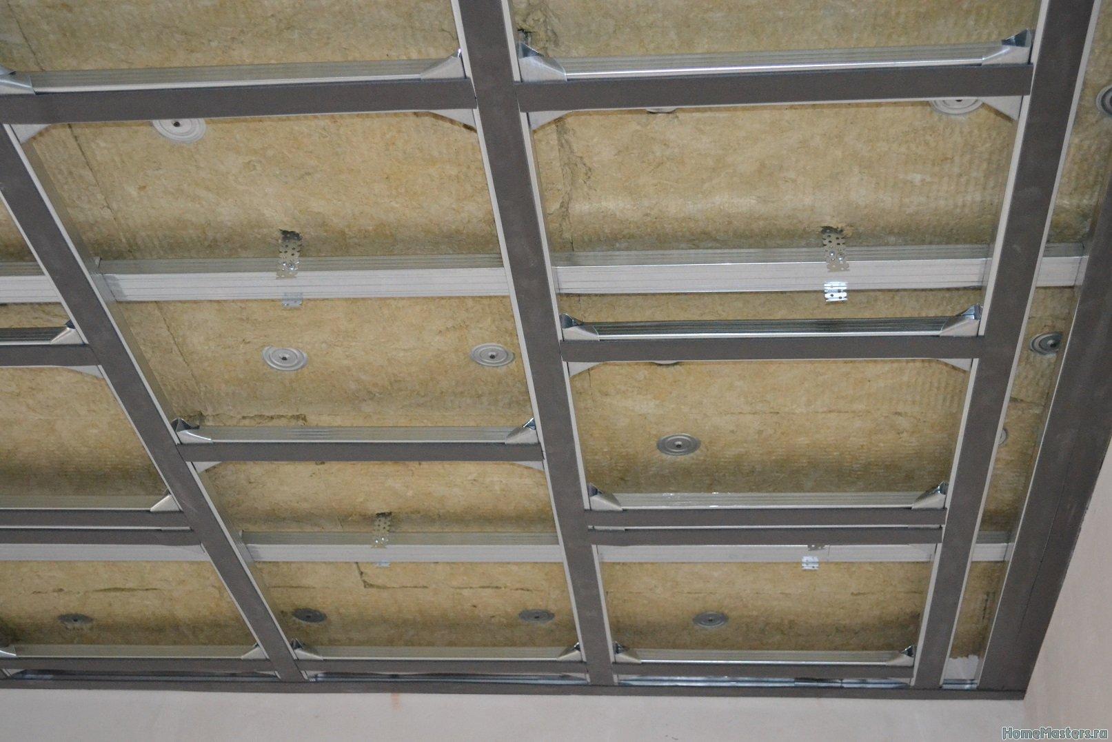 Ремонт спальни 1. Потолок 033