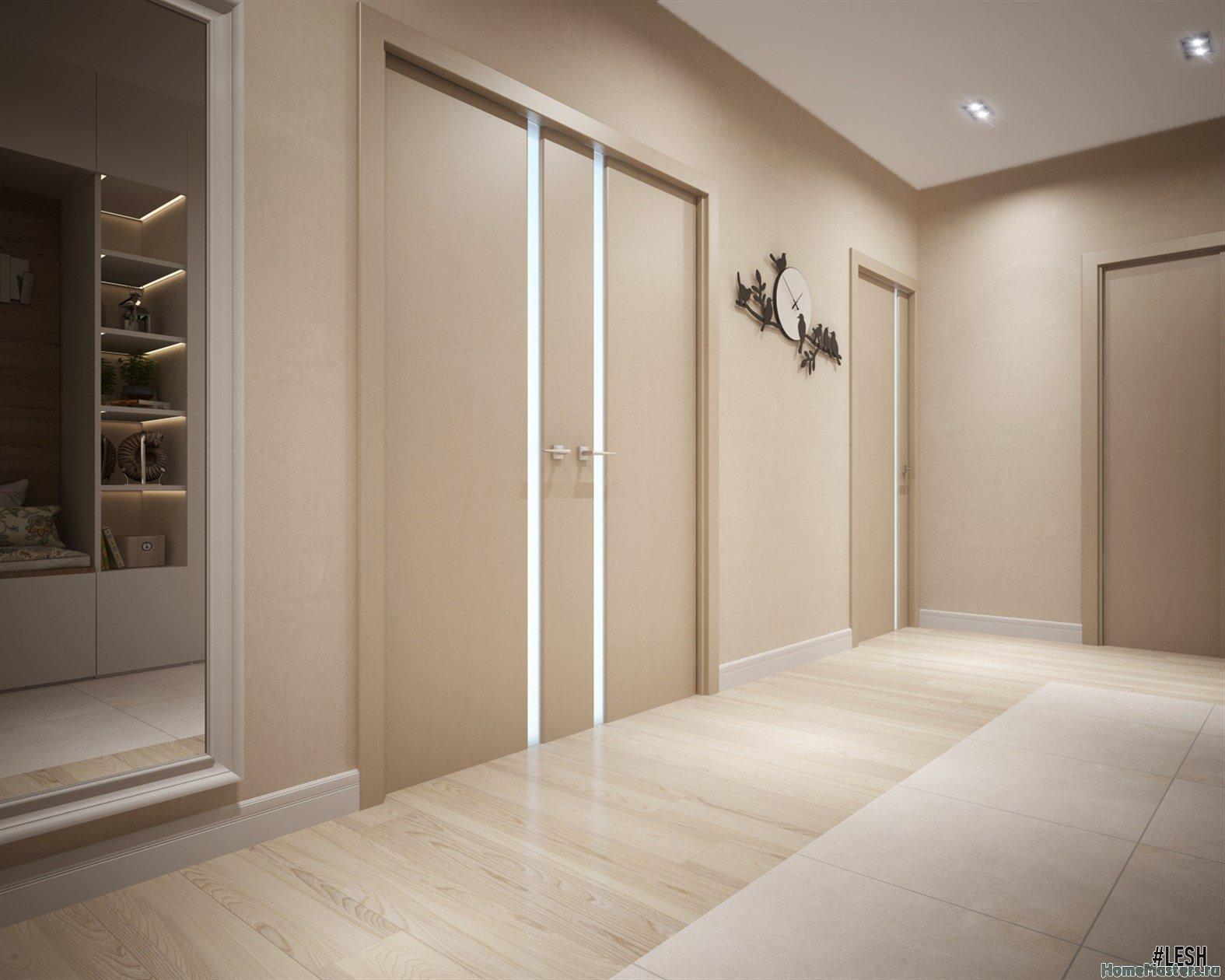 фото коридора в квартире со светлым полом кмб, правда, нам