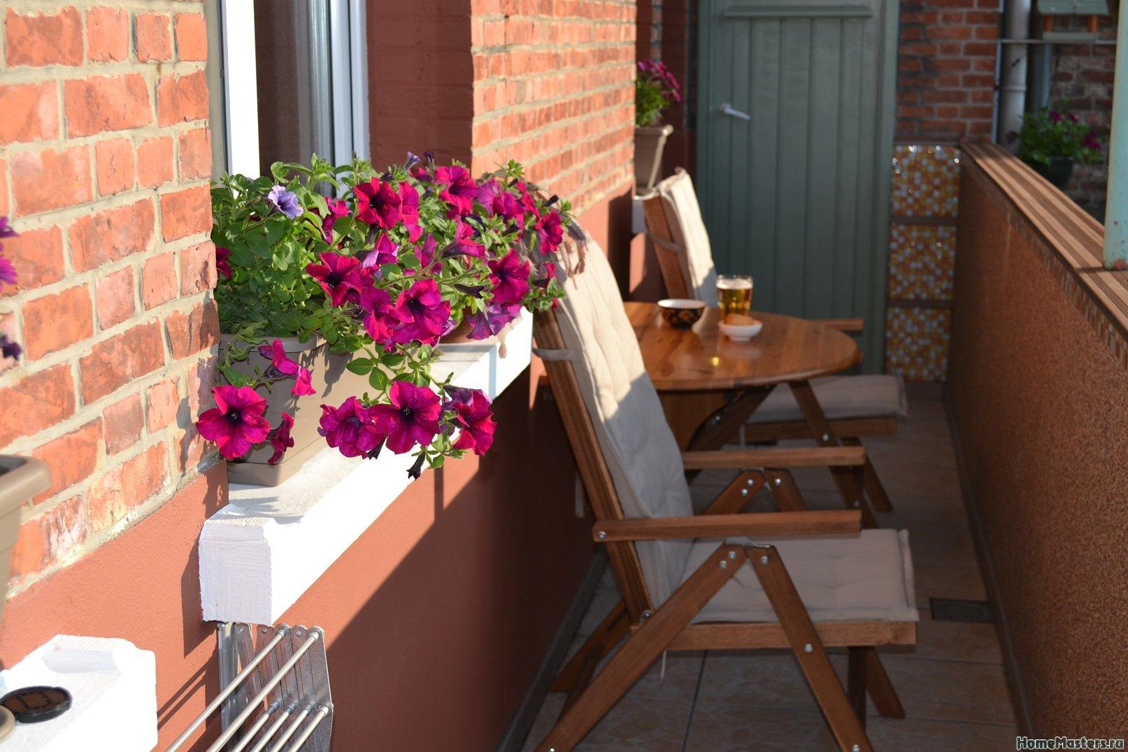 Ремонт балкона. Пол и стены.
