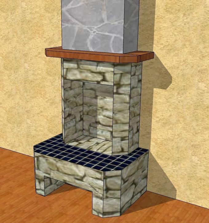 Каминный портал для электрокамина своими руками