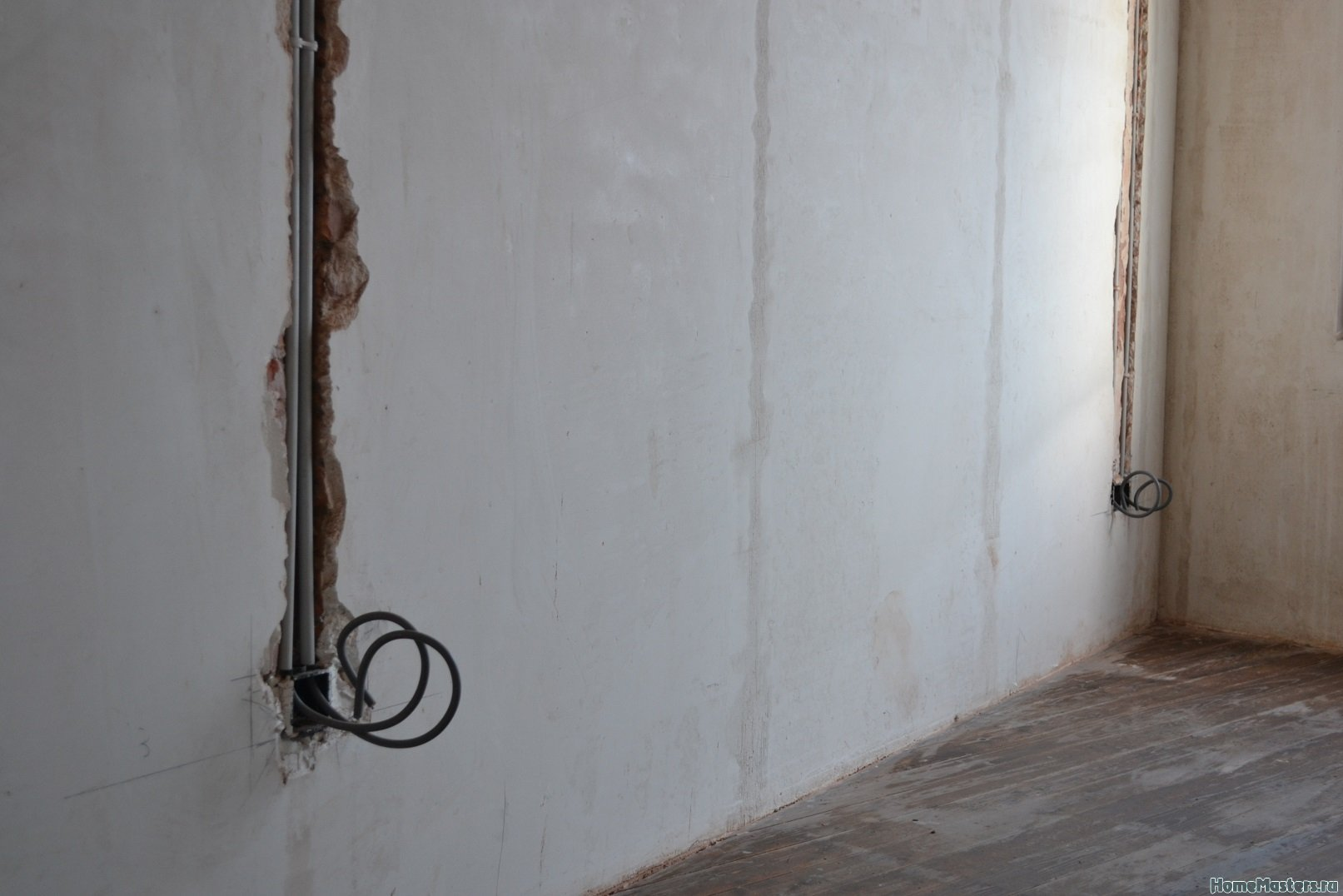 Ремонт спальни 2. Пол и стены. 032