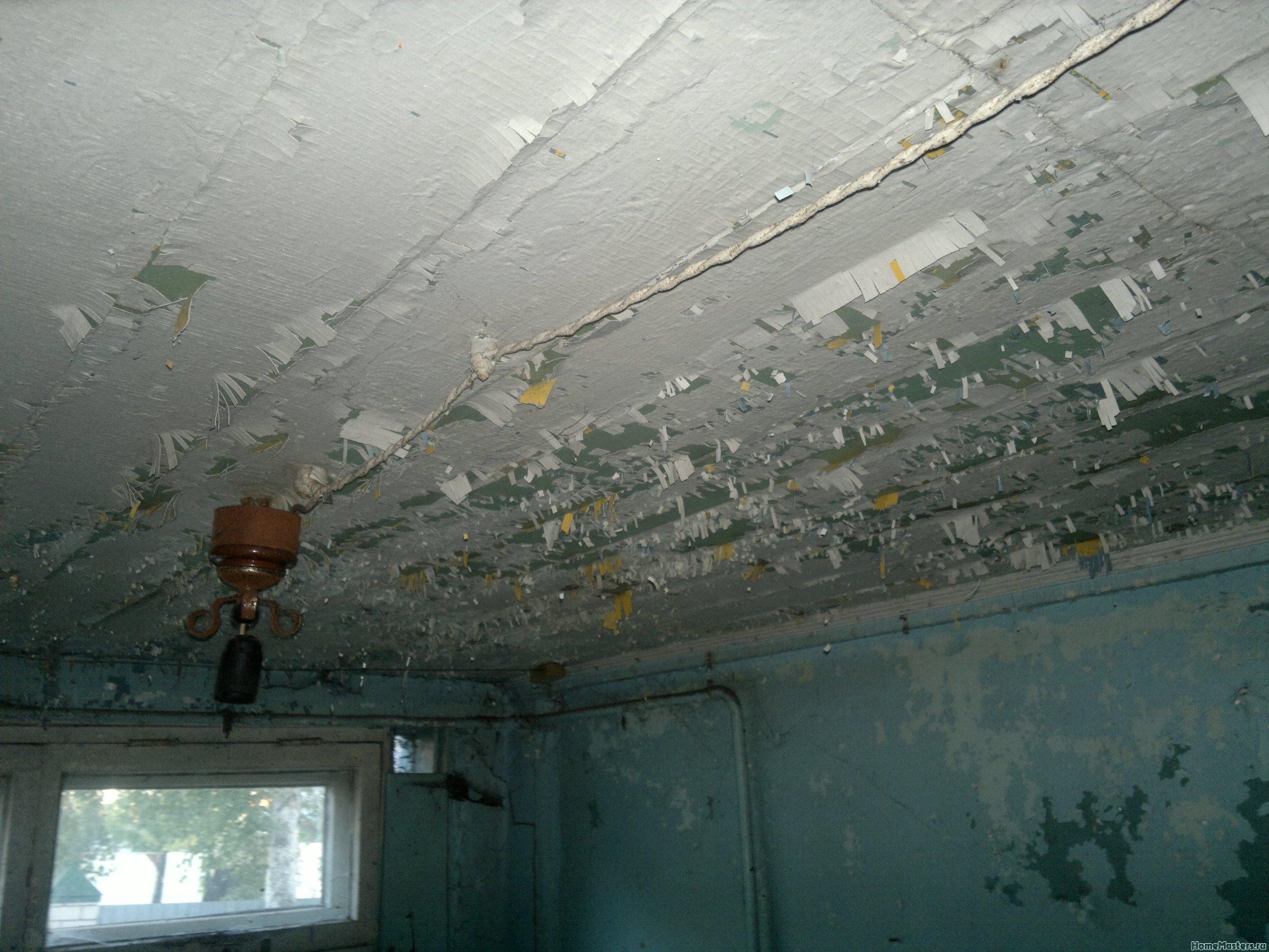 Потолок в прихожей.