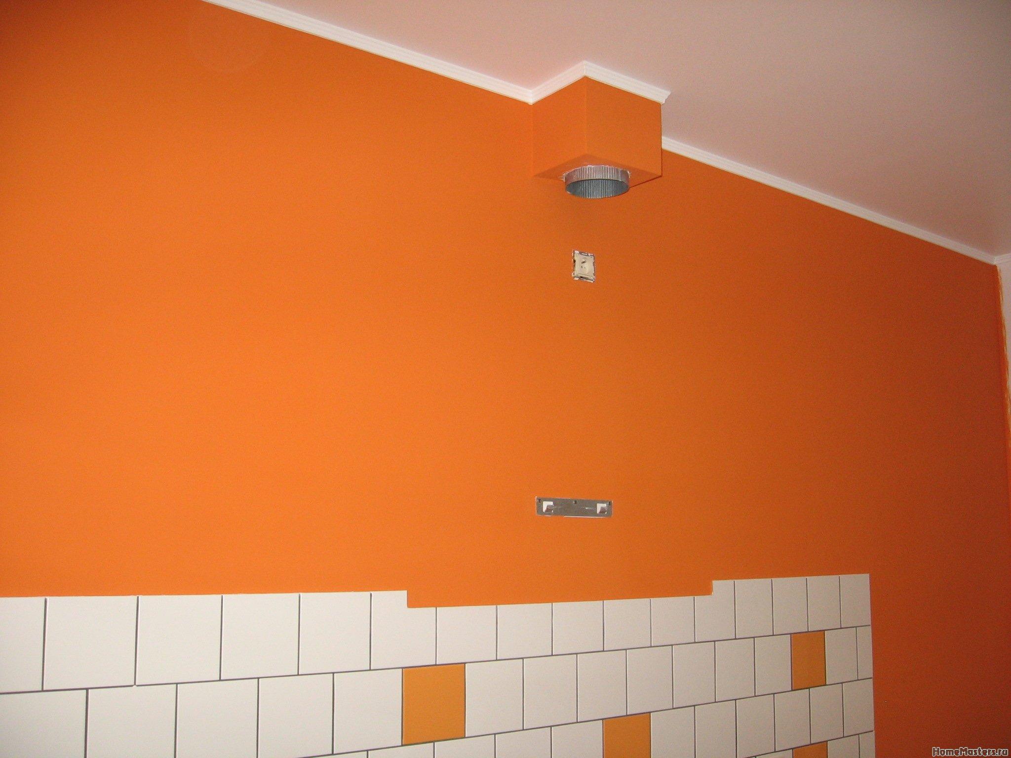 Ремонт кухни. Стены, пол, электрика. 066