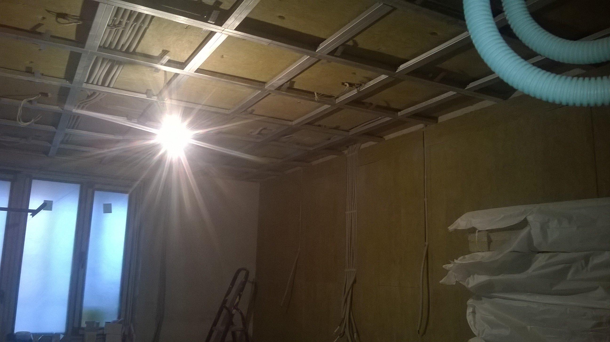 Каркас для звукоизоляционного потолка