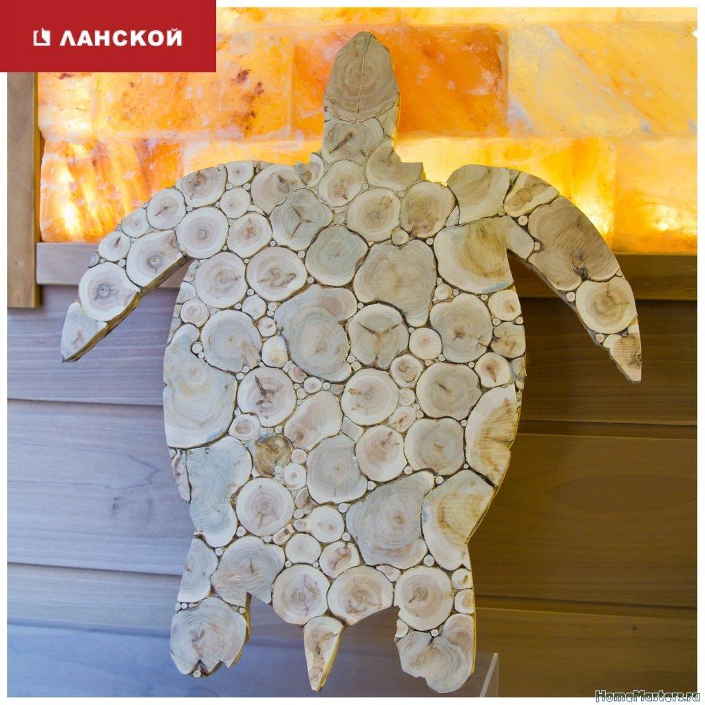 Можжевеловое панно, декор для бани в ТК Ланской