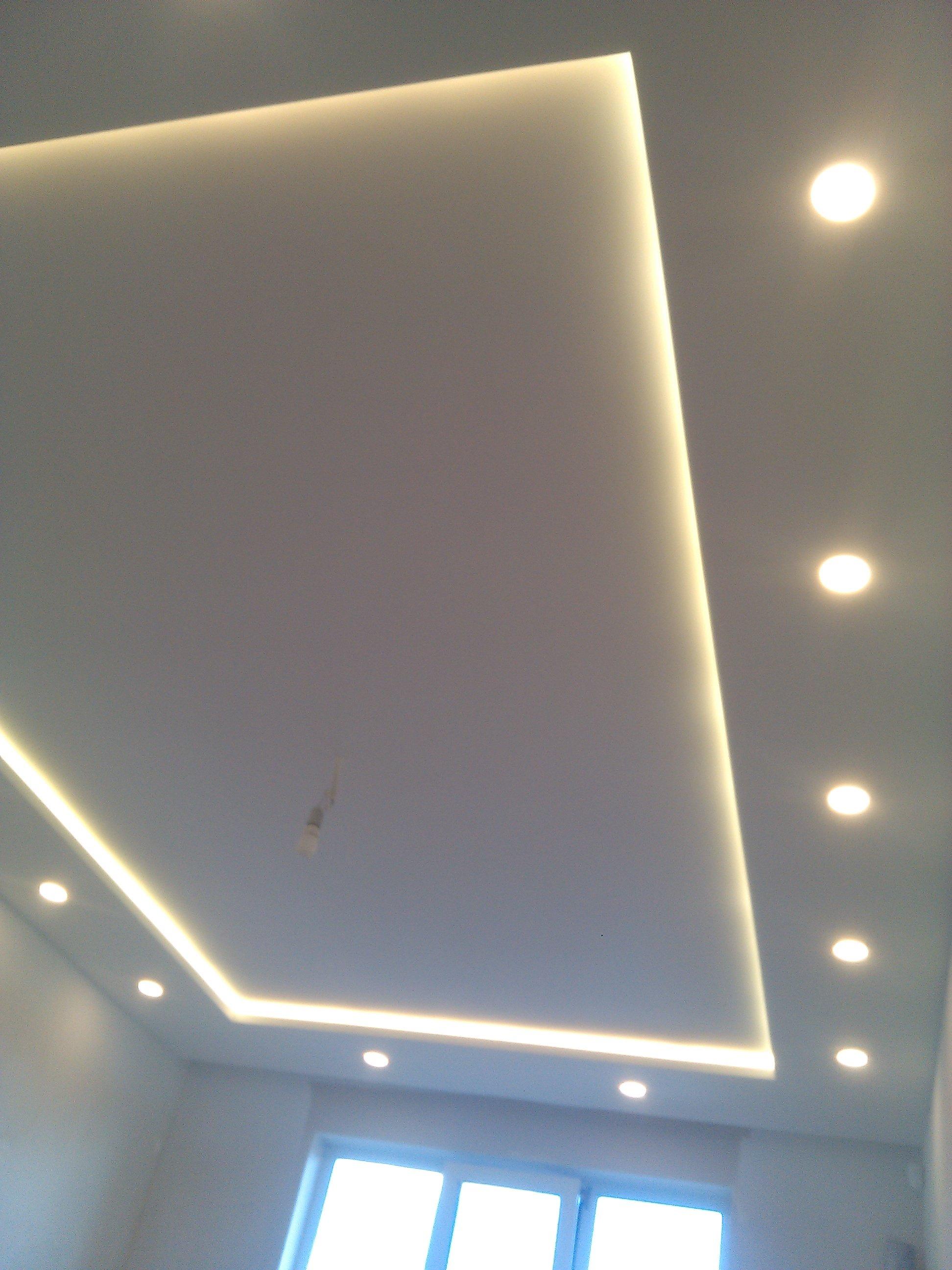 2 уровневый потолок из гипсокартона своими руками фото 80