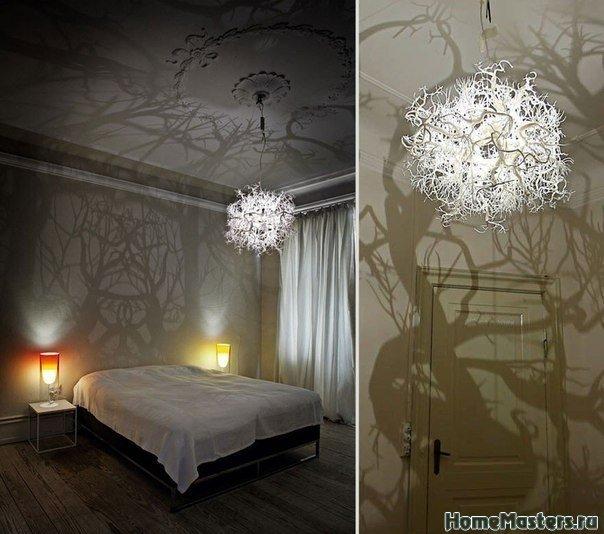 Люстра превращащая комнату в лесную чащу