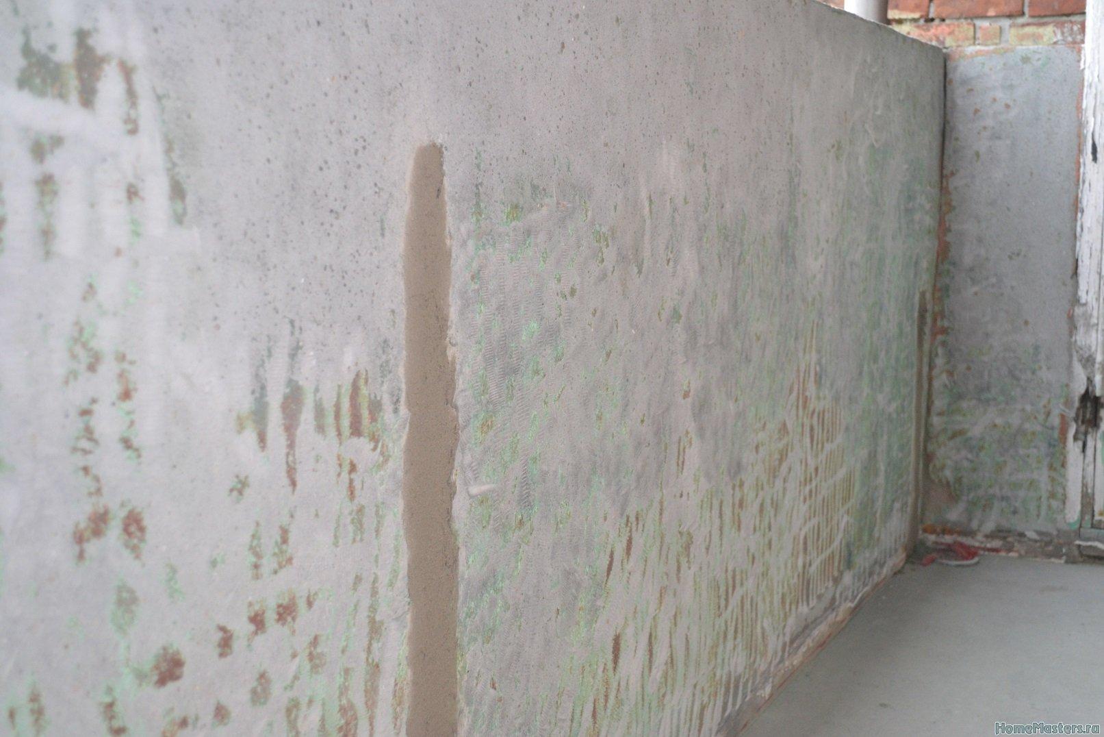 Ремонт балкона. Пол и стены. 022