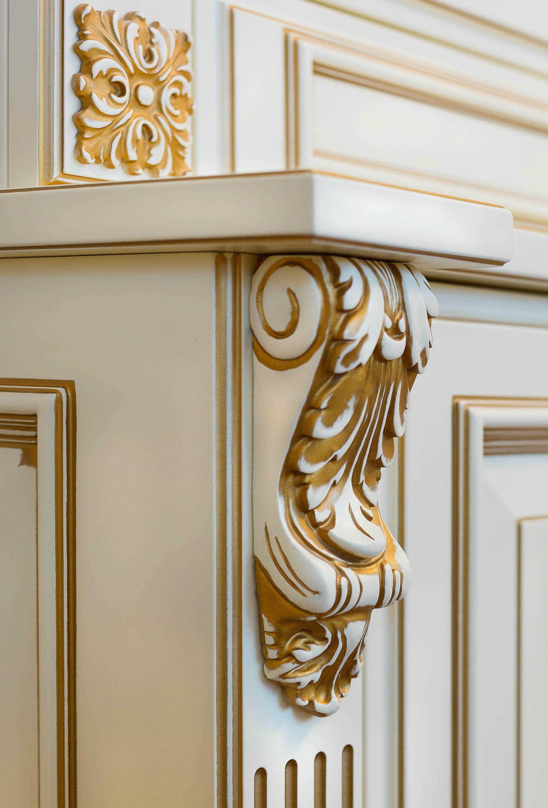 фото декора фасада кухни эмаль с патиной