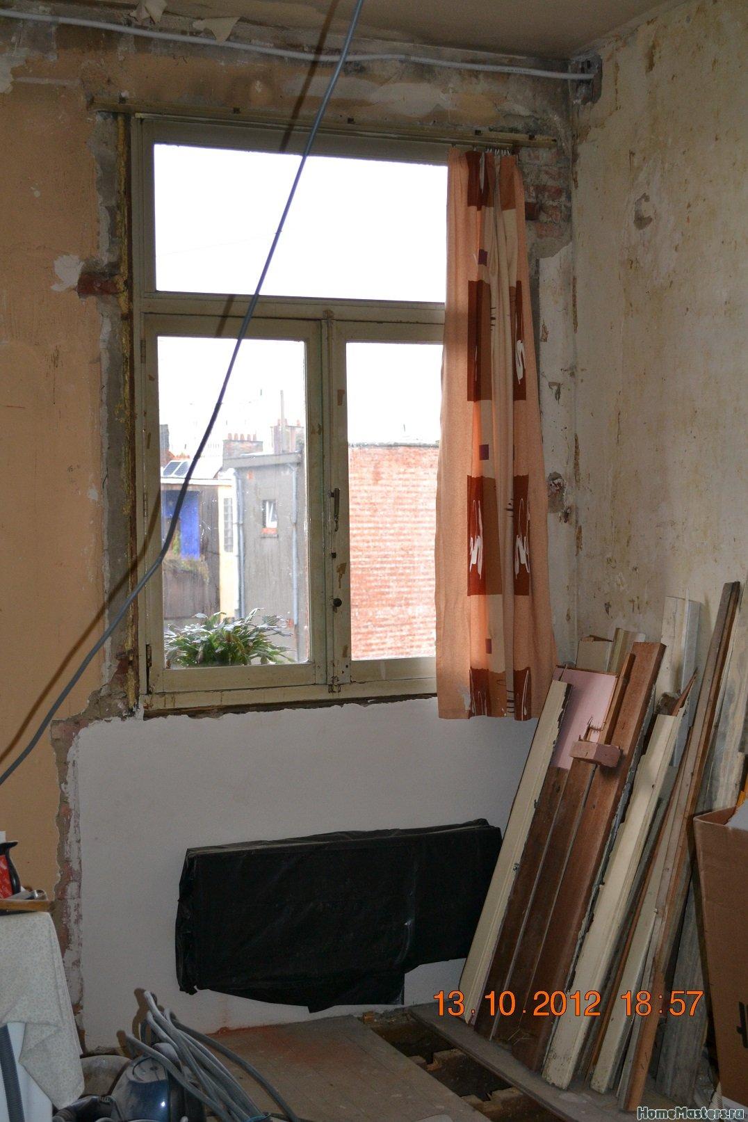 Ремонт спальни  1. Стены, пол, электрика. 001