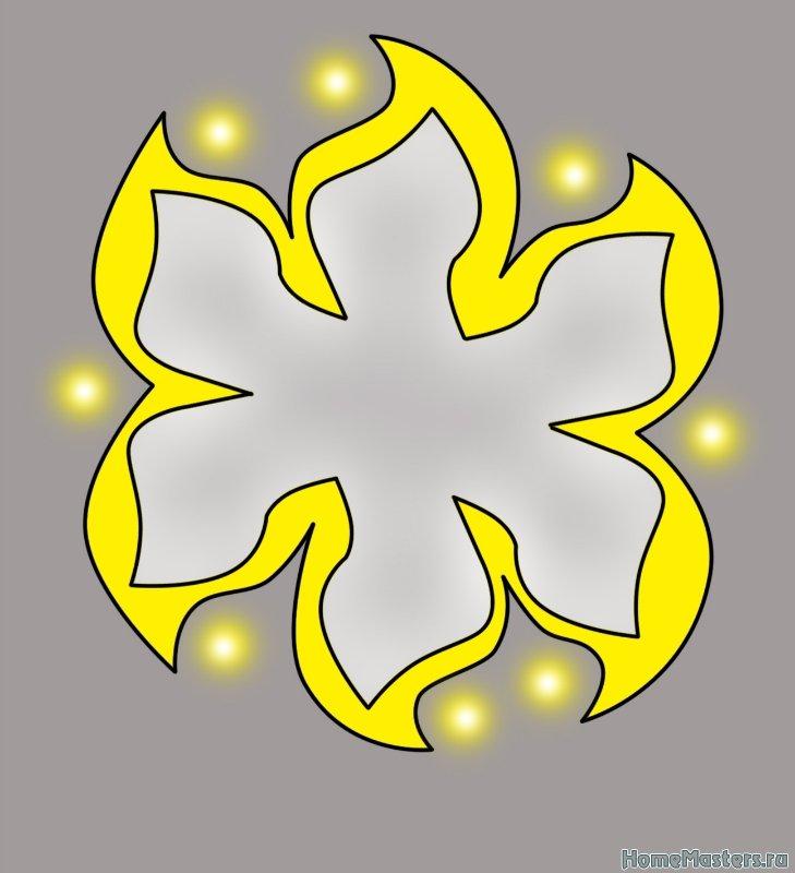 Цветок на потолке из гипсокартона