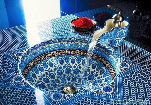 Раковина в марокканском стиле