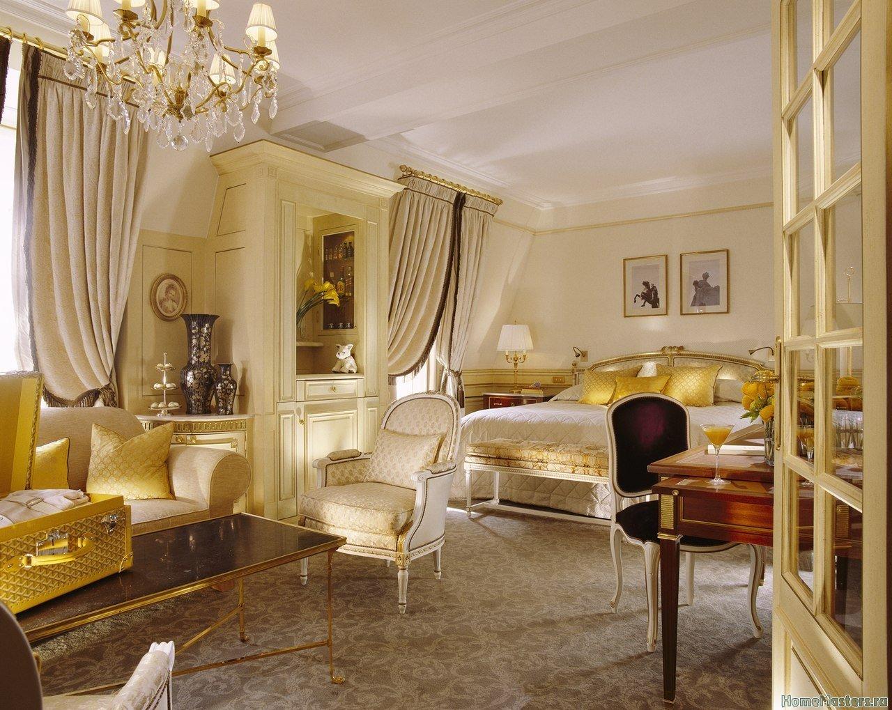 Богатая спальня