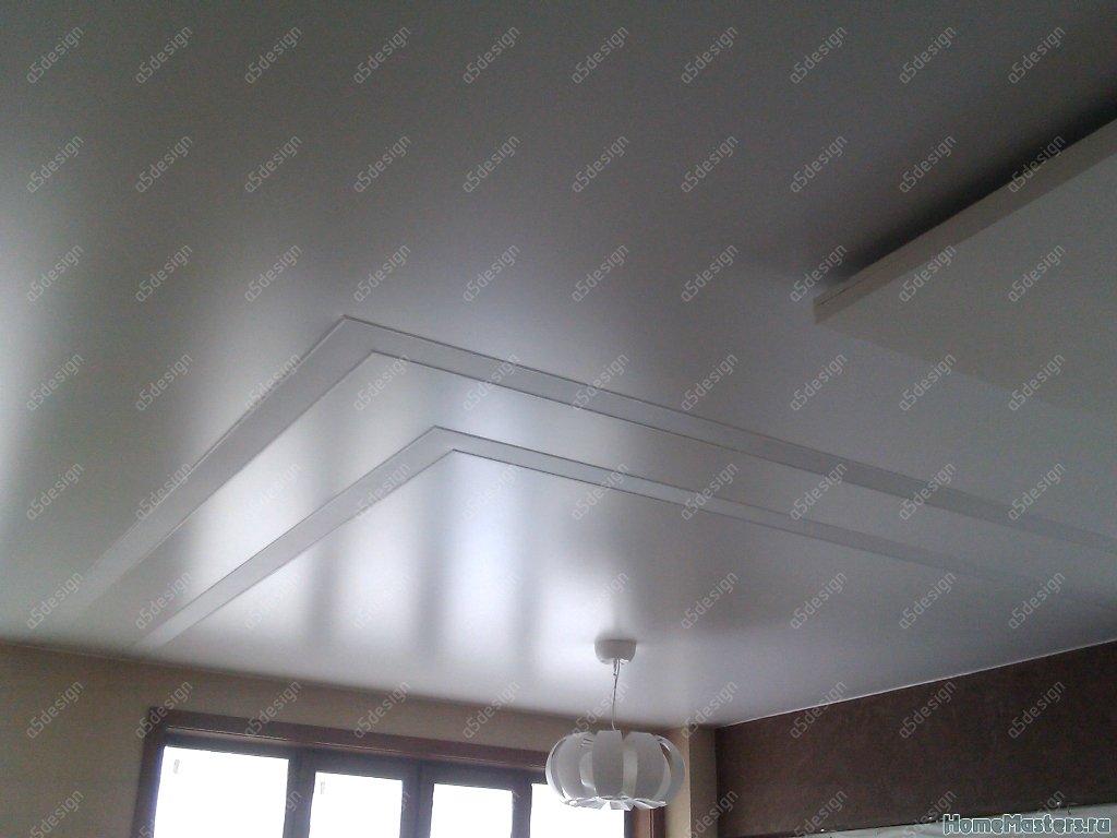 Световые полосы из натяжного потолка
