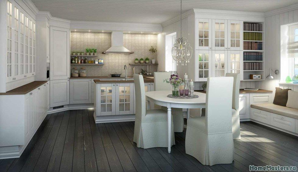Кухня в норвежком стиле