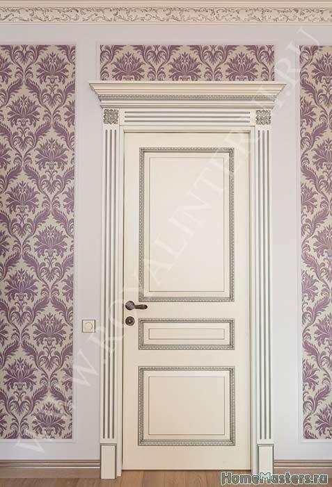 Империал белая межкомнатная дверь мдф и массив
