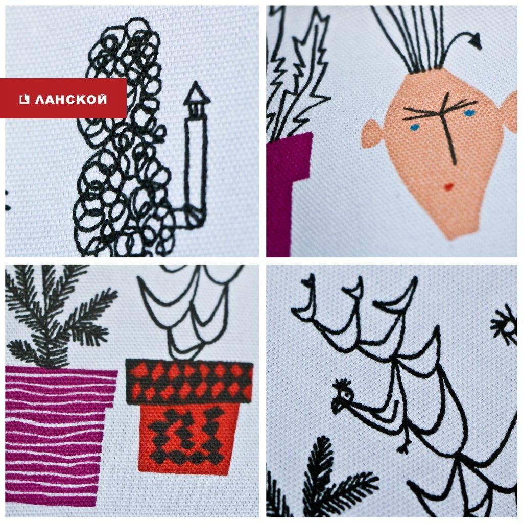 ткани из Швеции, ироничный дизайн