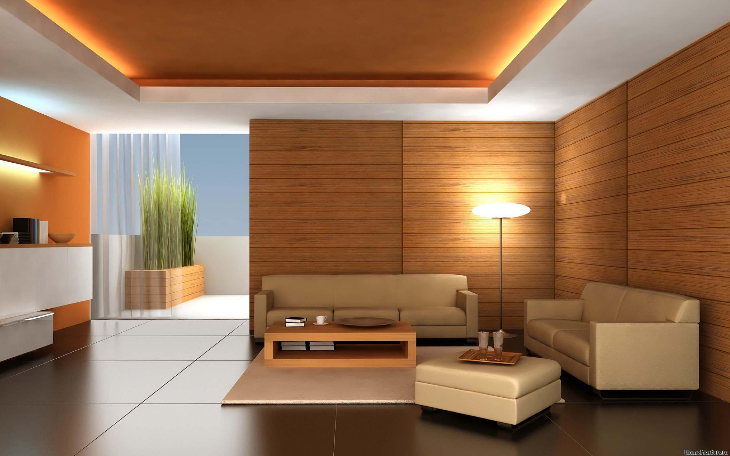 Минимализм в гостинной комнате