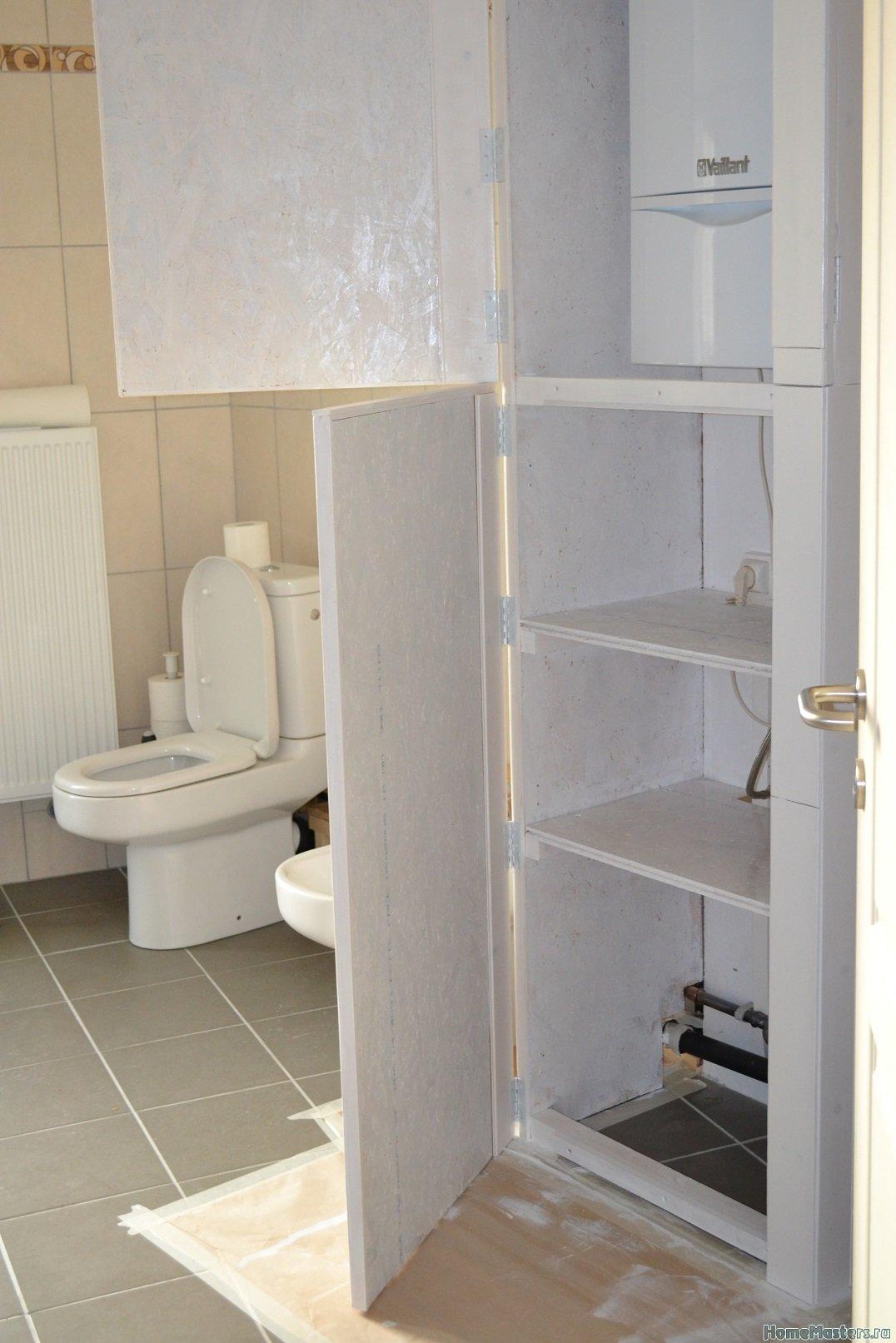 Шкаф в ванной комнате. 015