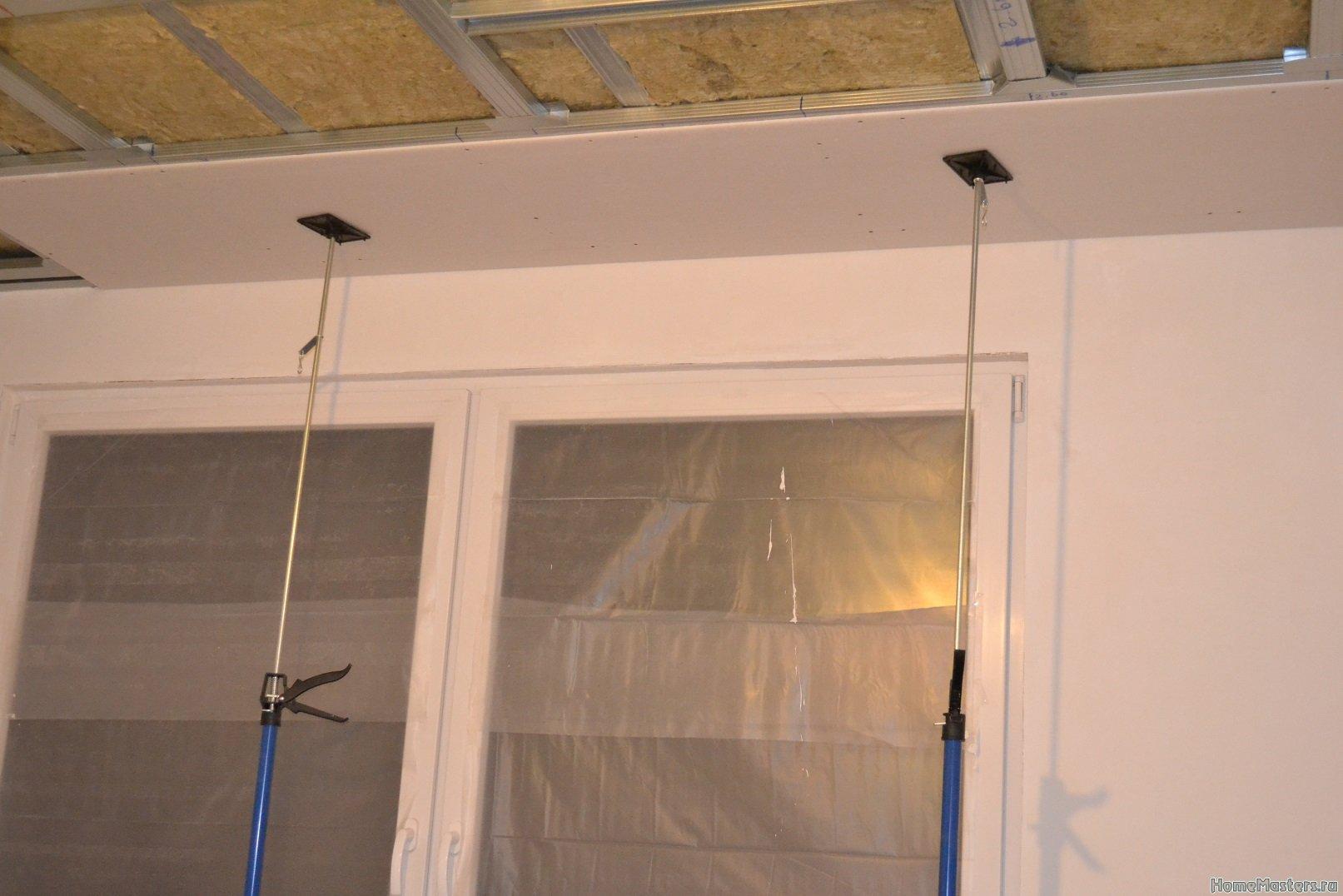 Ремонт в спальне 2. Потолок 027
