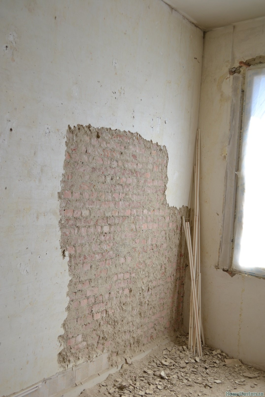 Ремонт спальни 2. Пол и стены. 001e
