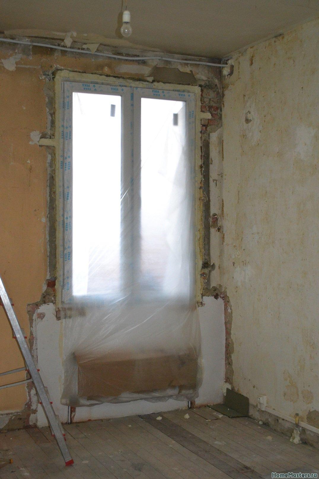 Ремонт спальни  1. Стены, пол, электрика. 012