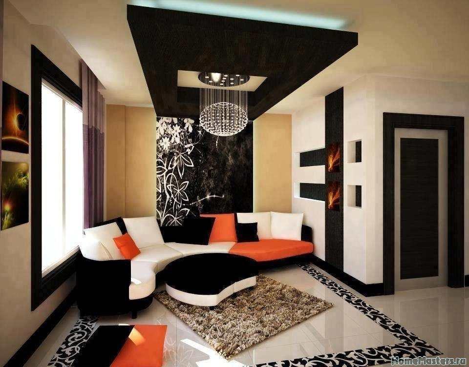 Контрастные цвета в гостинной