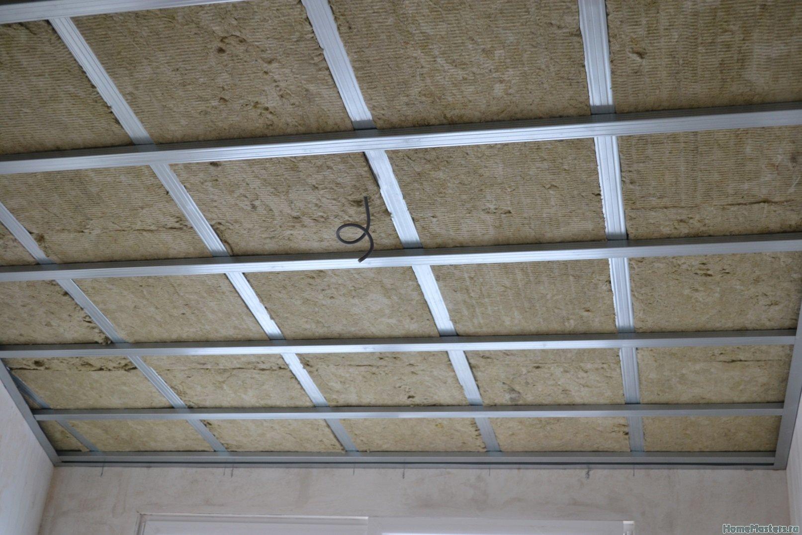 Ремонт в спальне 2. Потолок 021