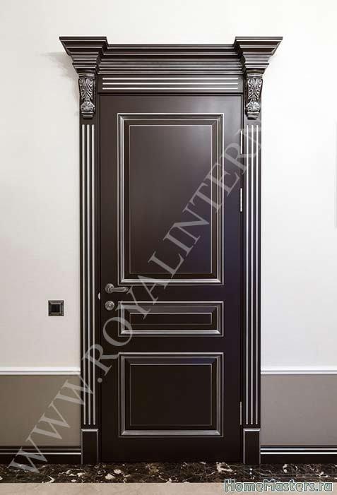 Роял Интерни межкомнатная дверь Империал отделка темный лак
