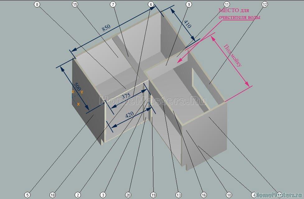 008 Проект углового стола