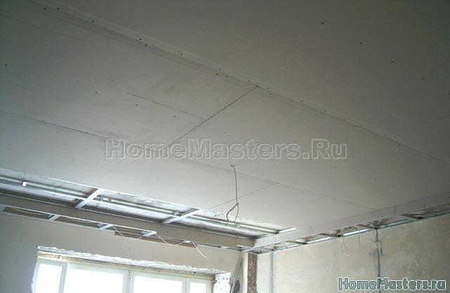 042a обшиваем потолок гкл