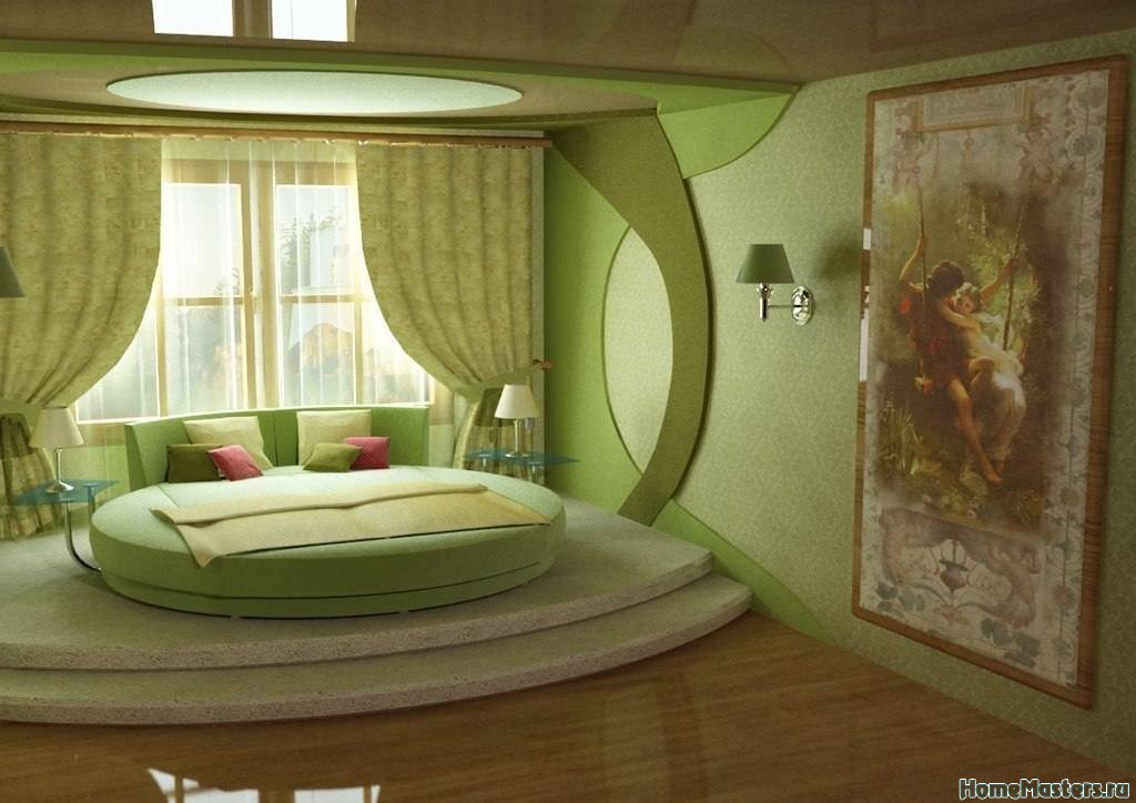 круглая спальня