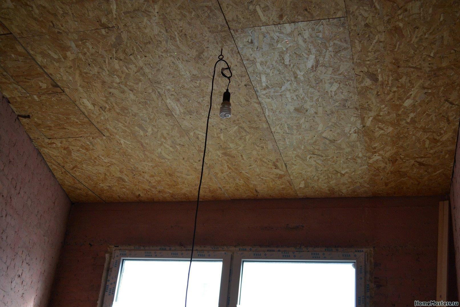 Ремонт в спальне 2. Потолок 010