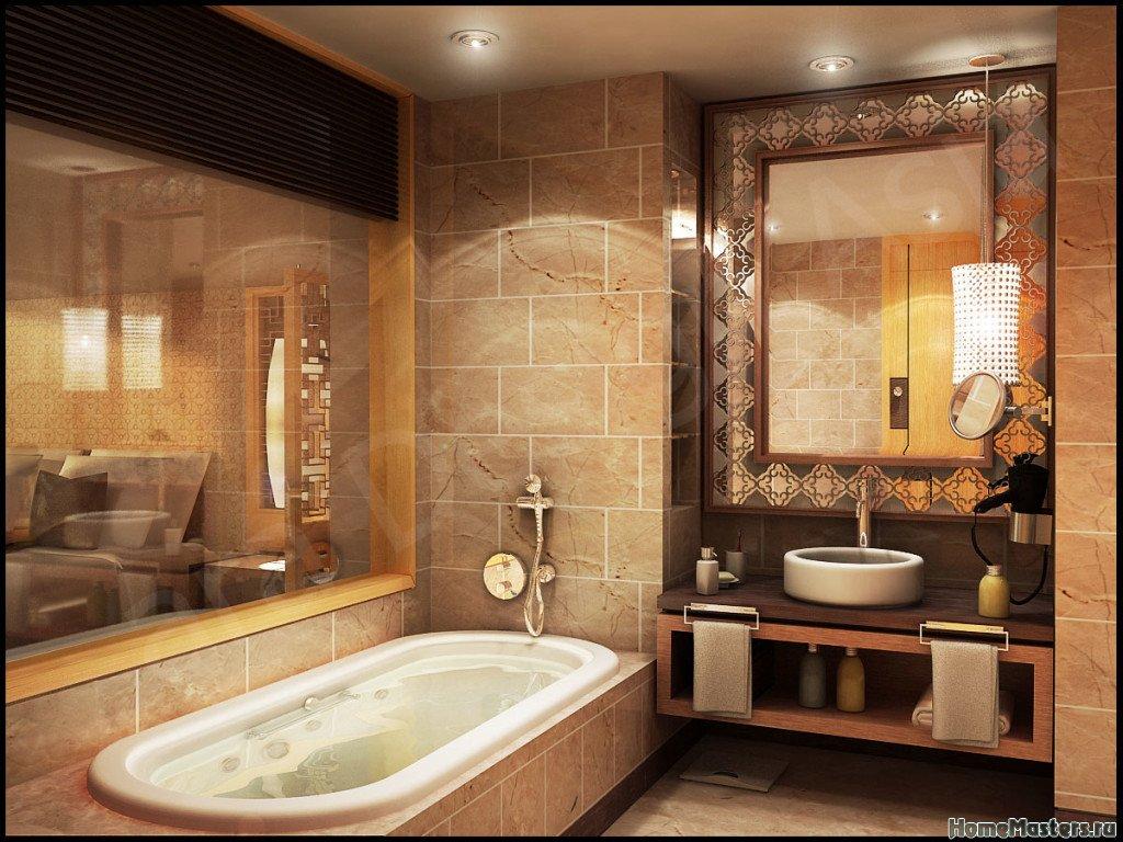 Классичексий интерьер ванной