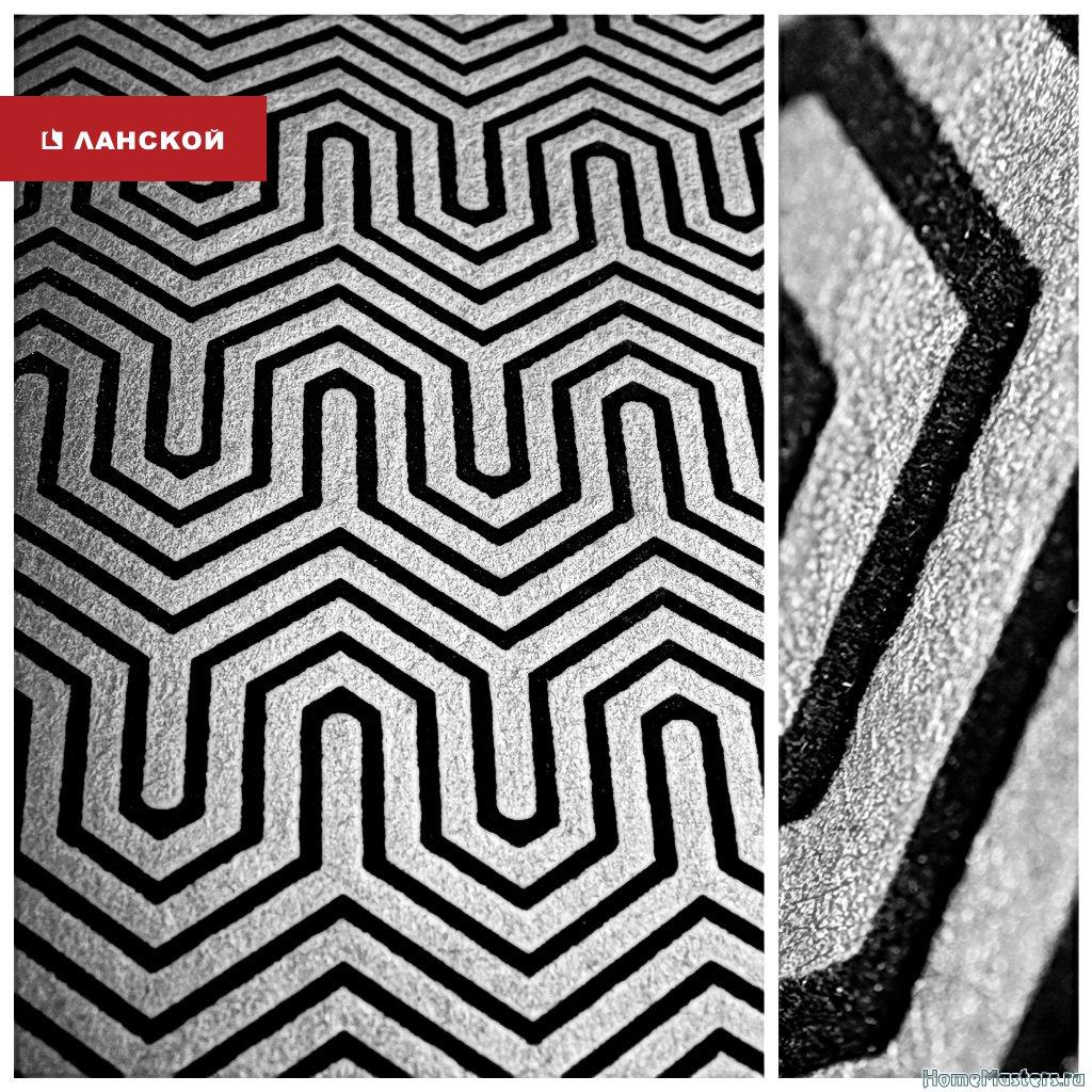 геометрические обои для создания черно-белого интерьера в тк ланской