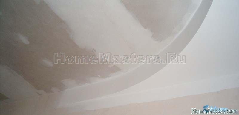 0017 зашпаклеванный потолок