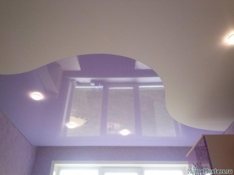 Комбинированный натяжной потолок