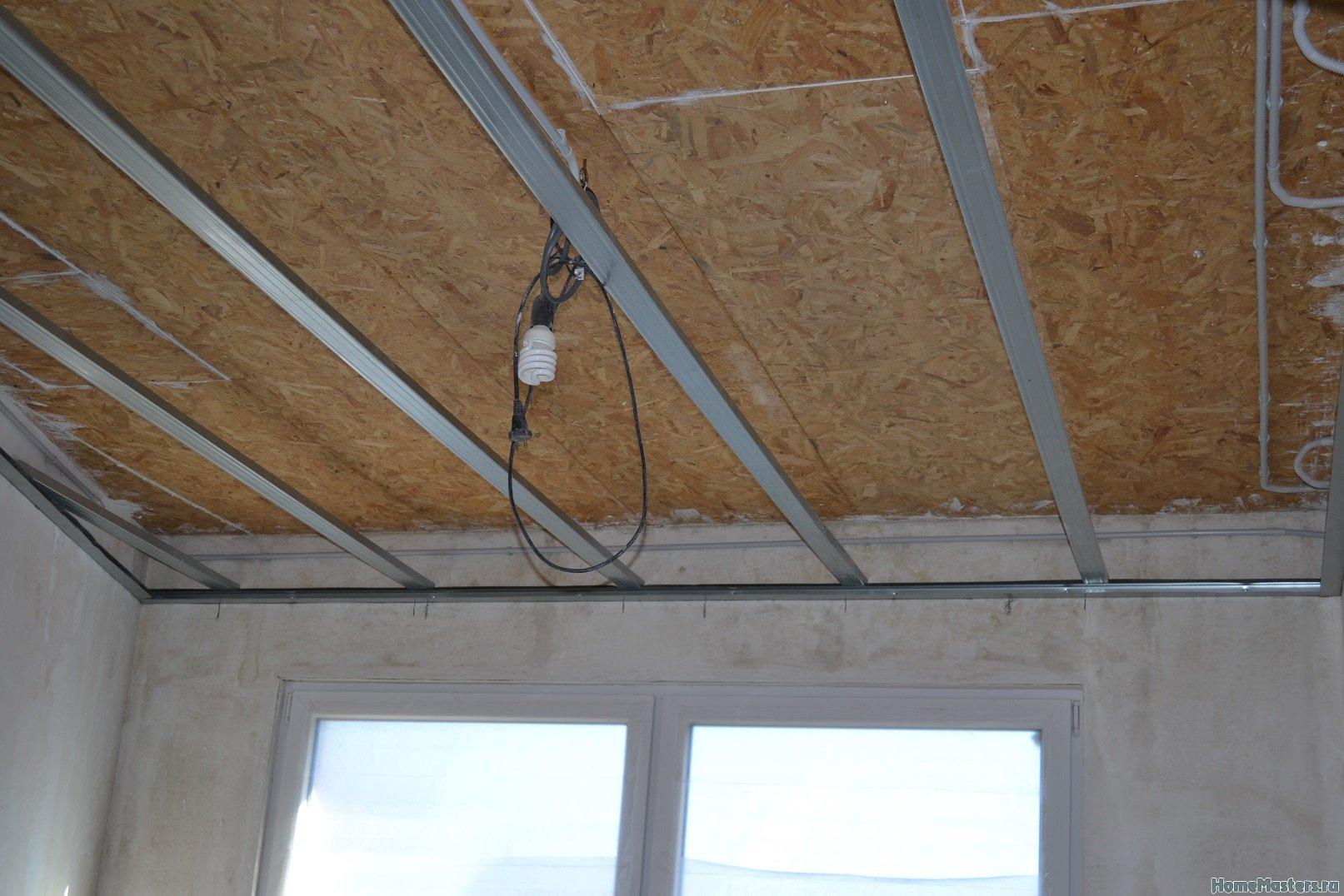 Ремонт в спальне 2. Потолок 013