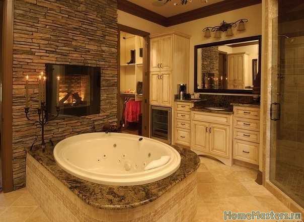 Интерьер с круглой ванной